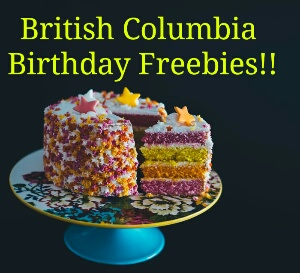 B.C Birthday Freebies