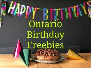 Ontario Birthday Freebies