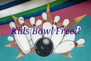 kids free bowling all summer